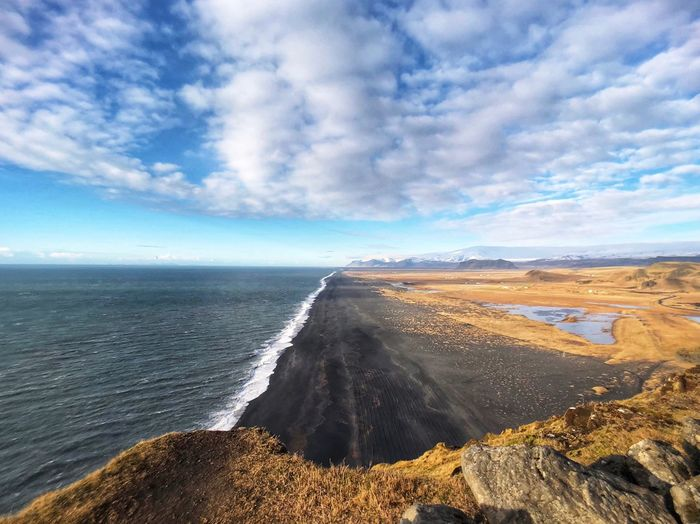 Vik, Iceland Iceland Black Beach Iceland Beach Cloud - Sky Sky Cloud - Sky Water Sea Scenics - Nature Beauty In Nature Tranquil Scene Nature No People Tranquility
