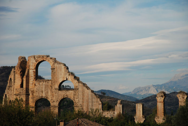Ancient Ancient Civilization Ancient History Antalya Aquaduct Arch Architecture Aspendos  Day History Landscape Nature No People Old Ruin Outdoors Roman Aquaduct Roman Arch Roman Architecture Roman Ruins Scenic View Sky Travel Destinations Turkey Water System Water Works