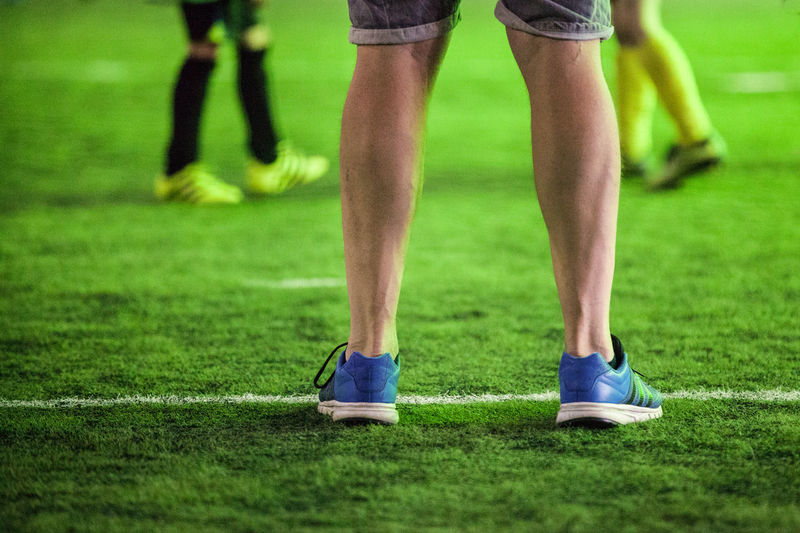 Goalie Competitive Sport Goalkeeper Grass Green Color Human Body Part Human Leg Keeper Leisure Activity Lifestyles Men Shoe Shorts Soccer Field Sport Sports Clothing Sportsman Standing The Week On EyeEm Paint The Town Yellow Be. Ready. This Is Masculinity This Is My Skin