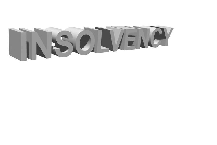 Insolvency as text for the background as a template Insolvency Bankruptcy Attorney Sacramento Capital Letter Cut Out Insolvent Message No People Single Word Studio Shot Text White Background