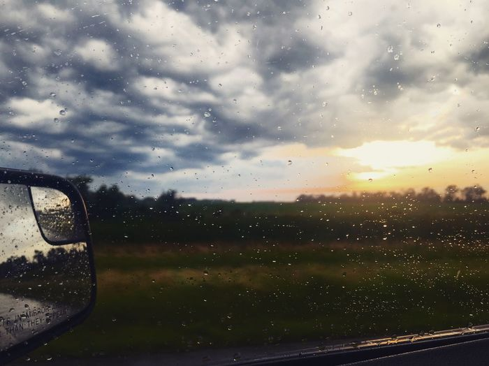 Sommergefühle Rainy drive views. Summer Summertime Views Drop Sky RainDrop Nature Sunset Weather