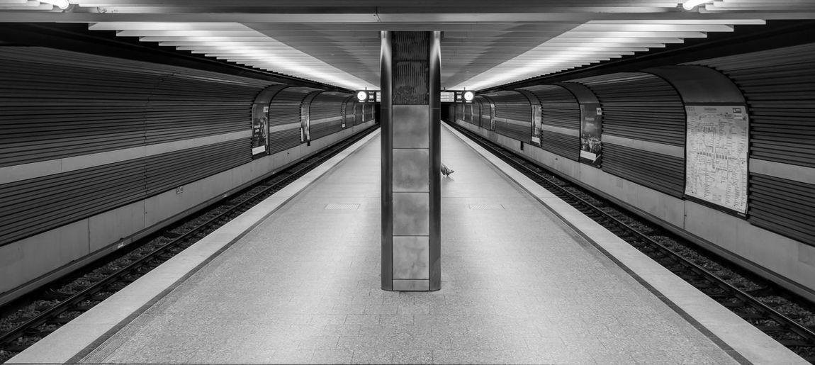 Panoramic View Of Subway Station