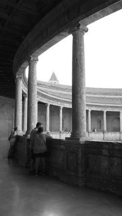 Alhambra De Granada  Architecture Built Structure Architectural Column History Historic Culture SPAIN Historical Building Historical Monuments Bwcollection Bw_collections