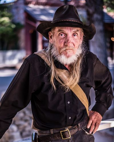 Old Timer and gold digger portrait. Looking At Camera One Person Beard Adult Clothing