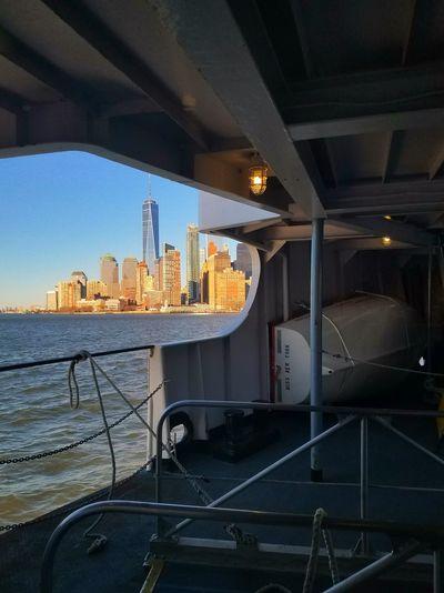 New York City Manhattan New York Ferry Traveling Travel Destinations Cityscape