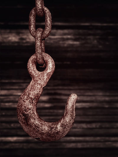 Steel Rust Anchor Weight Pen Dent Chain Close-up Nopeople Art Do Not Pick Day