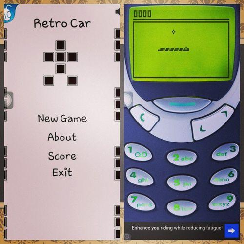 oh ansabe ng game ko sa phone haha Old school Brickgame Snake2 Retrocar