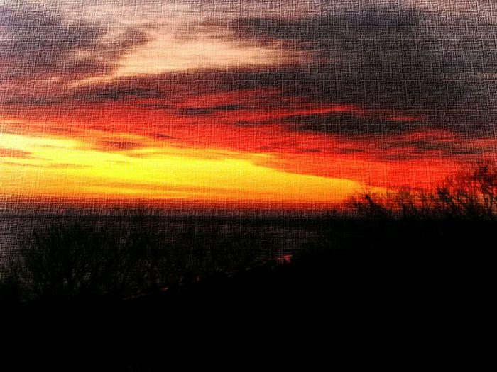 Sonnenaufgang im Januar Sunshine