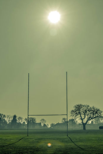 Beauty In Nature Day Grass Landscape Landscape Photography Landscape Portrait Nature No People Outdoors Rugby Rugby Pitch Shadows Sky Sport Sports Ground Sun Sun Spot Sunflare Tree