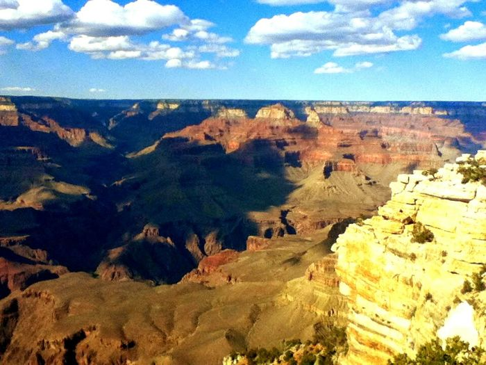 Grand View Grand Canyon National Park On Holiday Vacation Tourism Great View Blue Sky Great Outdoors White Clouds On Vacation Hi! The Grand Canyon Arizona US Park Taking Photos Check This Out Enjoying Life EyeEm Best Shots Sunshine Nature EyeEm Nature Lover