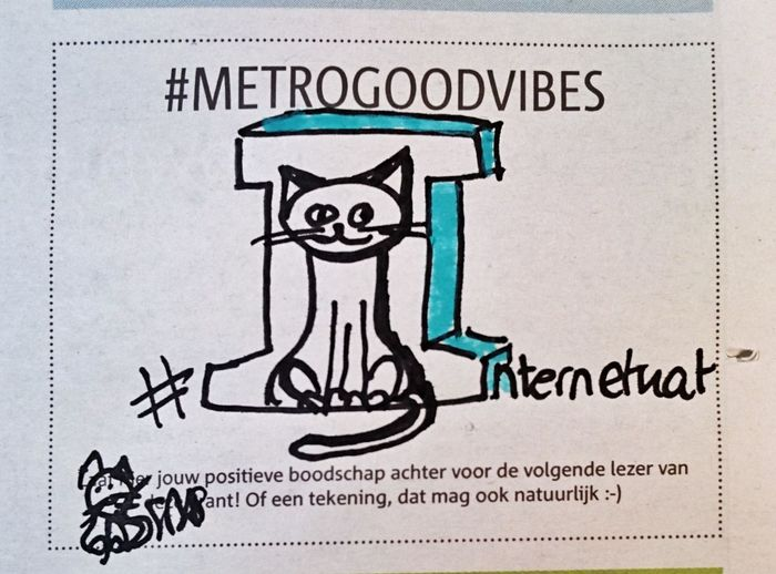 Internetkat Metrogoodvibes (c) 2017 Shangita Bose All Rights Reserved Cat Drawing Cat Drawing Design Art Drawing Snbgraffiti Paper No People Day