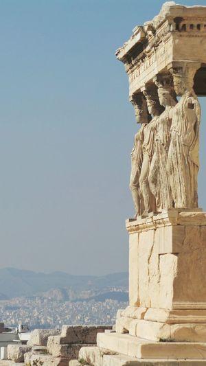 Athens acropolis erechteion caryatids