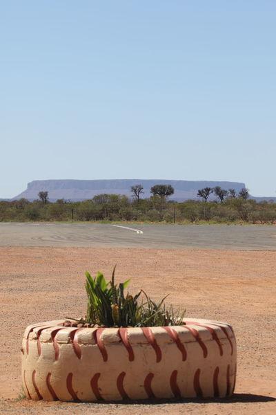 Australia Clear Sky Outdoors Roadside Sand Scenics Table Mountain Tire