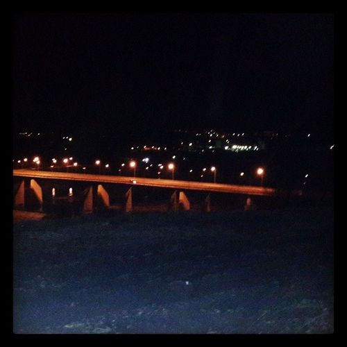 ночной город вид на мост