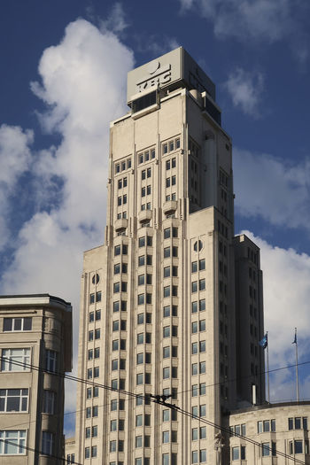Antwerp, Belgium - December 4, 2018, KBC bank in Atwerp the second largest bank in Belgium, focusing on private persons and small and medium-sized enterprises in Belgium, Ireland and Central Europe. KBC KBC Bank Bank Antwerp Antwerp, Belgium Architecture Built Structure Building Exterior City Sky Outdoors Low Angle View Office Building Exterior Business Building