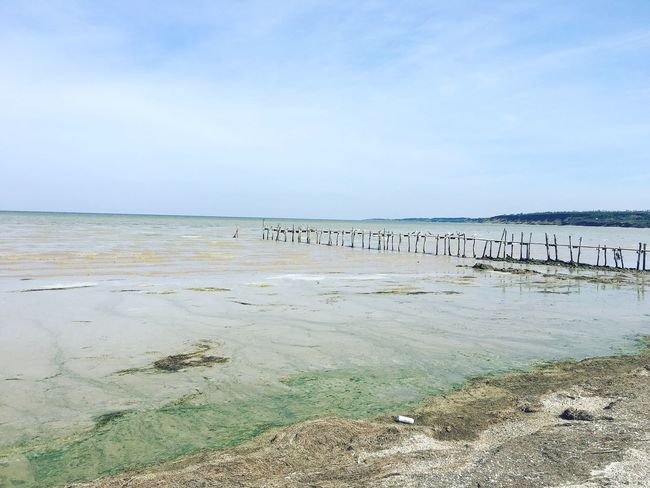 Чумбур-Коса Ocean Water Nature Day Pier Horizon Over Water Tranquil Scene Sea Scenics Tranquility Beach Sky Calm Shore Beauty In Nature Non-urban Scene Cloud Seascape Outdoors Wave First Eyeem Photo