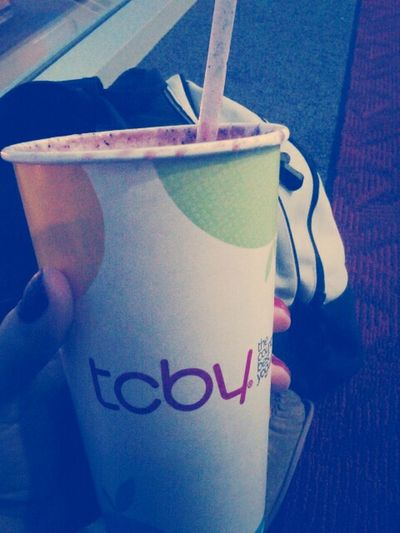 Waiting For My Plane, With My Berrylicious Smoothie. ;-*