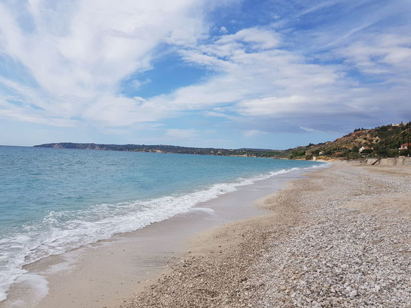 Kefalonia, Greece Beauty In Nature Beach Sand Sea Vacations Nature Sky Travel Destinations Water Cloud - Sky Summer Tranquility Beauty In Nature Water's Edge