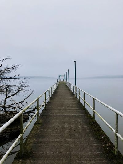 Ending infinity ❄️ Old Grey Dreamy Endless Cold Fog Landscape Winter Steg The Way Forward Railing Direction Sky Water Diminishing Perspective Sea Nature vanishing point Tranquil Scene No People Tranquility Pier Connection Day Scenics - Nature Horizon Over Water Beauty In Nature Outdoors Long