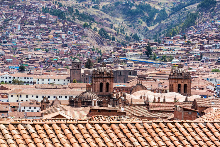 Cityscape of Cusco, Peru with several churches visible Ancient Archeology Architecture Bath Building Capital City Cusco Cusco, Peru Cuzco Cuzco - Peru Destination Fountain History Incas Landmark Old Peru Rock Ruins South America Stone Tourism Travel View