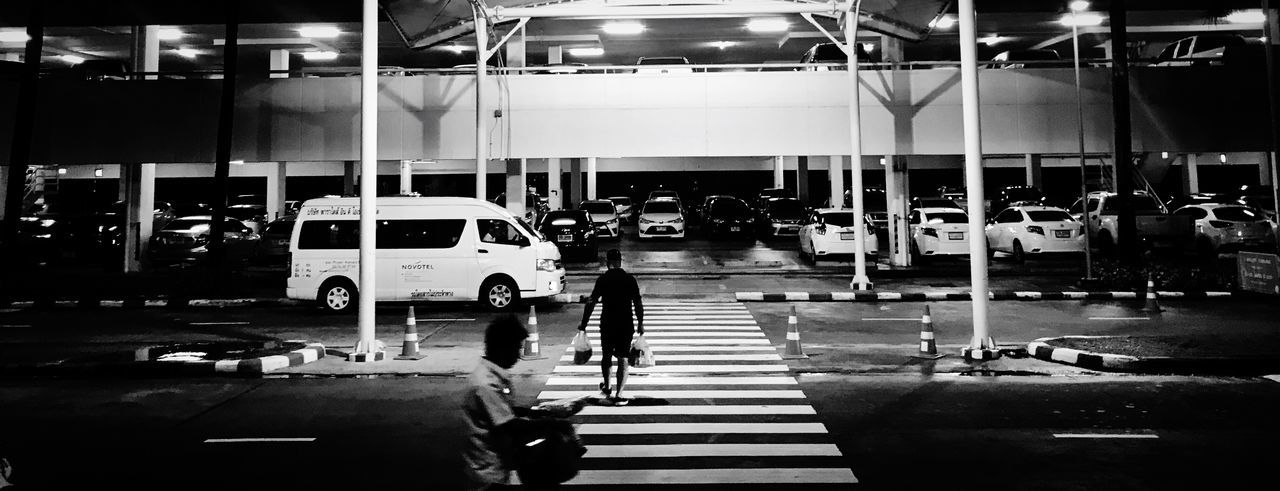Life walk Travel Photography Nightphotography Jungceylon Transportation Mode Of Transportation Land Vehicle Illuminated Motor Vehicle Car Indoors  Road Marking Lifestyles Travel Architecture Night