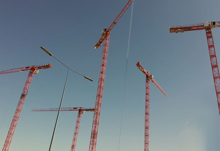 Low angle view of crane