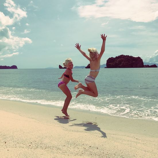 Malaysia Jumping Happy Kids Happy Happy People Tanjungrhubeach Beach Tropical Sunny