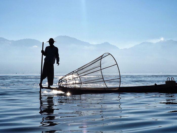 Ataraxy // Inle Lake Myanmar Dec'14 // Olympus OM-D EM-1 Lake Fishing Silhouette Miles Away