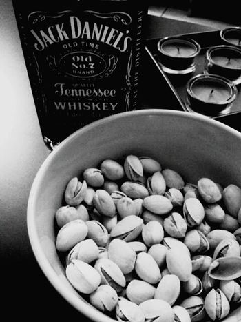 Jack Daniels Food Bowl Indoors  Cultures No People Healthy Eating Freshness Nuts, Almonds, Seeds, Pumpkin Seeds, Hazelnuts,