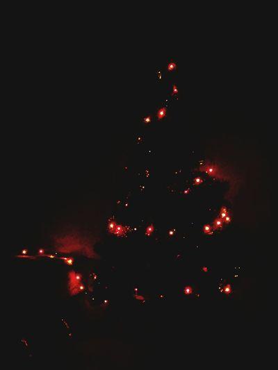елочка огни темно новый🎄год 2015🎁🎉 волшебство🎄❄