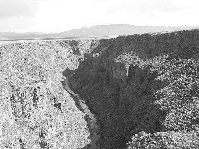 Taos Rio Grande Gorge River Black And White Don't Jump View Hello World Natural Nature Nature Photography Vertigo Canyon Taos New Mexico Eyeemphoto A Bird's Eye View