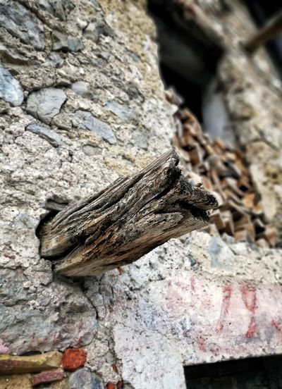 Day No People Rock - Object Close-up Old Old Buildings Wood Wall Italy