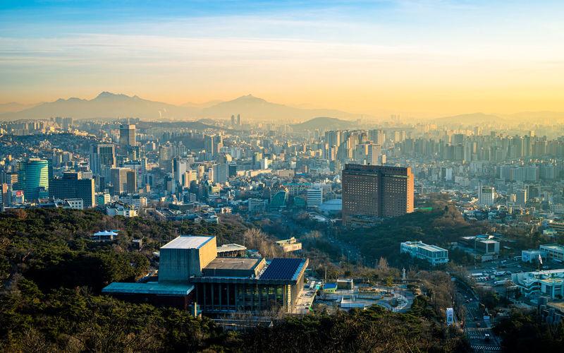 Beautiful landscape view of seoul city, seoul, south korea.