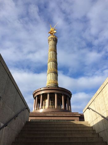 Tiergarten Park Germany Monuments IPhoneography Building Exterior Monument Landmark Built Structure Outdoors In Front Of City City Life Sky No People Tranquil Scene City Street