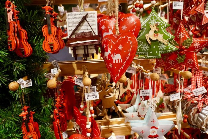 EyeEm Best Shots Christmas Market Christmas Tree Ornaments Christmas Decoration Hanging For Sale Variation Large Group Of Objects Abundance Retail  No People