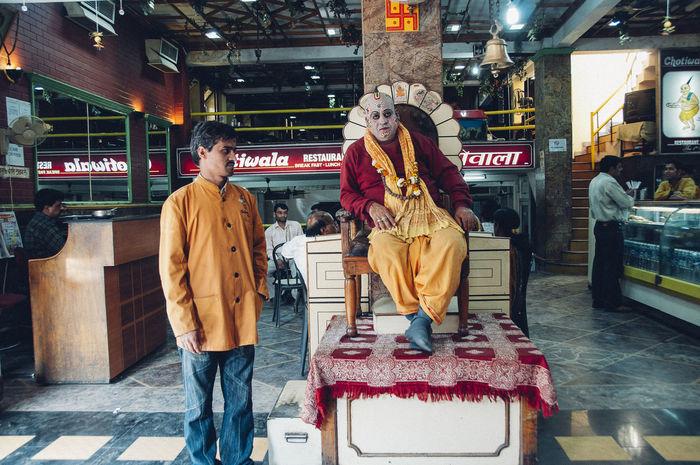 ASIA Everyday Lives Exploring Guru India The Week On EyeEm Travel Communication Day Full Length Indoors  Lifestyles Men People Real People Restaurant Rishikesh Standing Streetlife Text Travel Destinations
