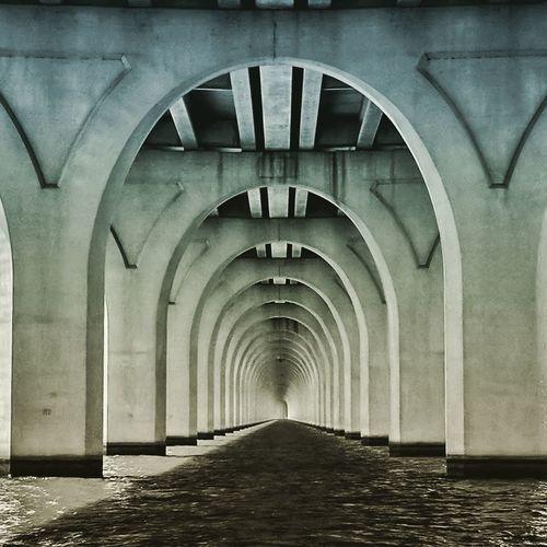 Cross Lake Bridge in Shereveport, LA. Bridge Bridge - Man Made Structure Bridges_aroundtheworld Bridgescape Lake Louisiana Shreveport LA Arches Leading Lines Arch Architecture Built Structure No People