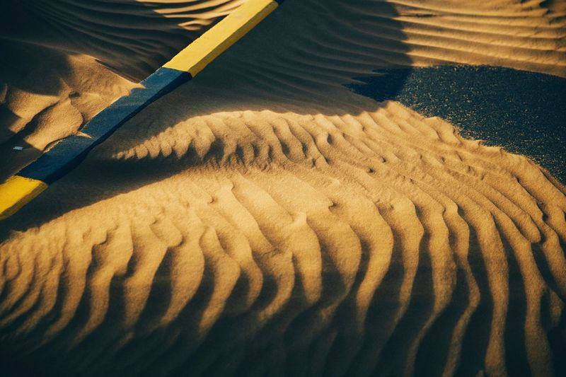 Desert High Angle View Pattern No People Sunlight Land Sand Day Shadow Close-up Nature Carpet - Decor Softness