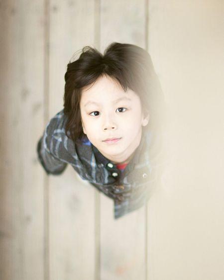 Close-up portrait of child