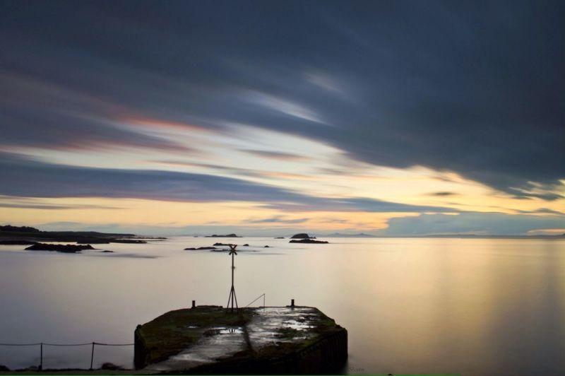 The Harbour Long Exposure Sunset #sun #clouds #skylovers #sky #nature #beautifulinnature #naturalbeauty #photography #landscape Scotland Beach