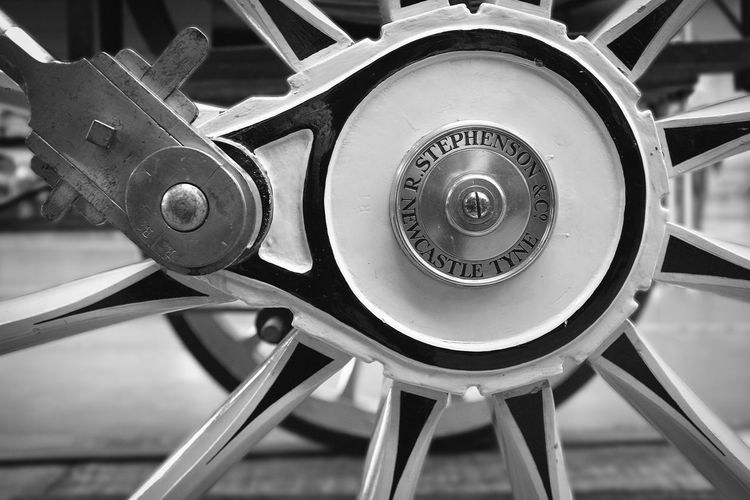 Black And White Close Up Detail Monochrome National Railway Museum Steam Engine Steam Locomotive Stephenson's Rocket Technology Train Transport Wheel