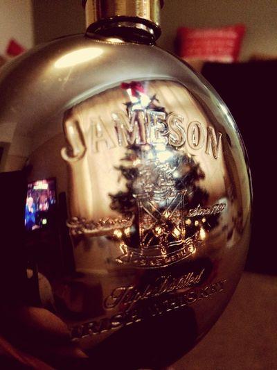 Jameson whiskey Jameson Irish Whiskey Jamesonwhiskey Christmastime Reflection Hip Flask