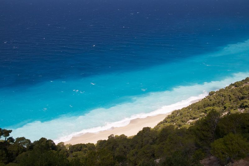 Beach Sea Greece Lefkas Lefkada Blue