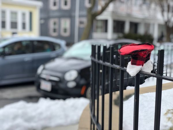 Sad things. Baby Lost Things Lost Baby Things Car Transportation Land Vehicle Built Structure Architecture Mode Of Transport Building Exterior Focus On Foreground Red Snow No People Day Outdoors Winter Close-up