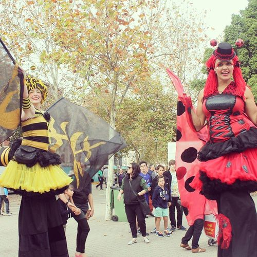 miss bee and miss ladybird.... Waday Perthtrip Whenciktoninperth