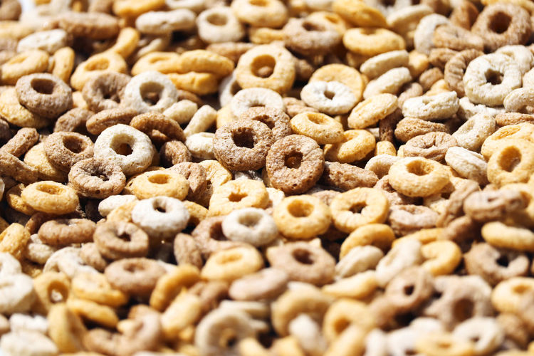 Breakfast cereal. Cereal Backgrounds Baked Breakfast Brown Close-up Cookie Food Food And Drink Freshness Full Frame Healthy Eating Indoors  Large Group Of Objects No People Oatmeal Seed Selective Focus Snack Still Life Studio Shot Sweet Food Wellbeing