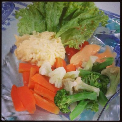 Lunch MashedPotato  made by me..no milk no butter.. oke kunyahh!!!
