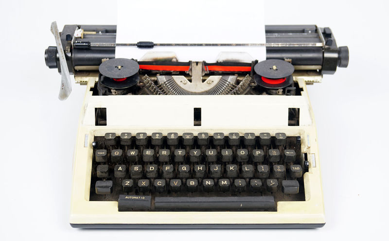 vintage typewriter EyeEm Selects Concept Old School Vintage Typewriter White Background Technology Old-fashioned Retro Styled Antique Manufacturing Equipment Machinery Paper Correspondence Typescript Printing Press Printout Printed Media Publication News Event Print Alphabet Printing Out Printing Plant Journalism The Past Analog Machine Part