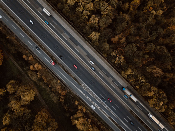 in motion Drohnenbild Drone  Drone Moments Drones Luftbild Aerial View Autobahn Drone Photography Dronephotography Droneshot High Angle View Land Vehicle Luftbilder Mode Of Transport Motion No People Outdoors Road Speed Transportation Vogelperspektive Mobility In Mega Cities