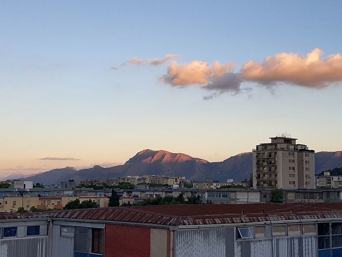 Palermo Italy🇮🇹 Sicily Sunset Clouds Sky Red Architecture Old Outdoors Mountains Houses In Background